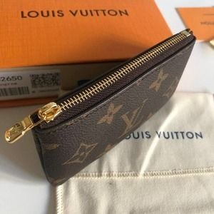 💖✨L.V💖✨MINI BROWN LEATHER COIN KEY POUCH WALLET